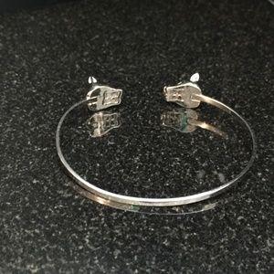 BCBGMAXAZRIA Silver Tone Panther Cat Cuff Bracelet